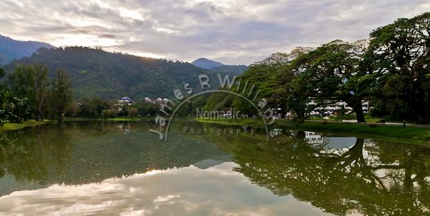 sun rising, sunrise, lake, gardens, rain-trees, hills, reflection, clouds, Taman Tasik, taiping, malaysia
